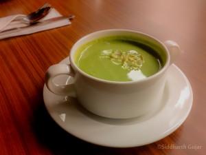 almond broccoli soup, kargo